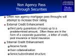 non agency pass through securities