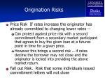 origination risks