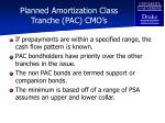 planned amortization class tranche pac cmo s