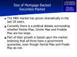 size of mortgage backed securities market