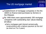 the us mortgage market