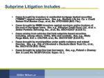 subprime litigation includes