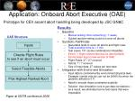 application onboard abort executive oae