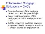 collateralized mortgage obligations cmo s