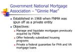 government national mortgage association ginnie mae