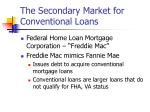 the secondary market for conventional loans