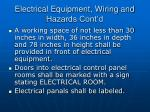 electrical equipment wiring and hazards cont d