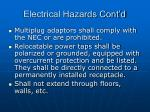 electrical hazards cont d