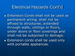 electrical hazards cont d47