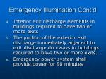 emergency illumination cont d