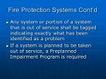 fire protection systems cont d74