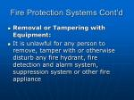 fire protection systems cont d80
