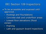 ibc section 109 inspections