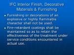 ifc interior finish decorative materials furnishing