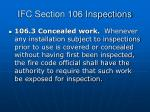 ifc section 106 inspections