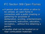 ifc section 308 open flames