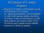 ifc section 314 indoor displays