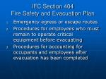 ifc section 404 fire safety and evacuation plan