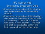ifc section 405 emergency evacuation drills