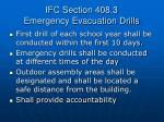 ifc section 408 3 emergency evacuation drills