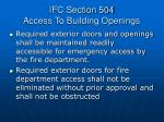ifc section 504 access to building openings