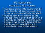 ifc section 507 hazards to fire fighters