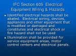ifc section 605 electrical equipment wiring hazards