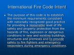 international fire code intent