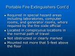 portable fire extinguishers cont d