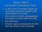 section 1006 3 illumination emergency power