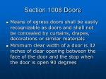 section 1008 doors