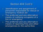 section 404 cont d