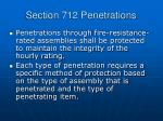 section 712 penetrations