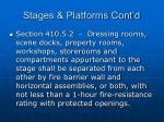 stages platforms cont d