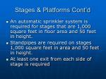 stages platforms cont d33