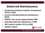 deferred maintenance