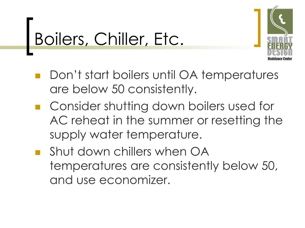 Boilers, Chiller, Etc.