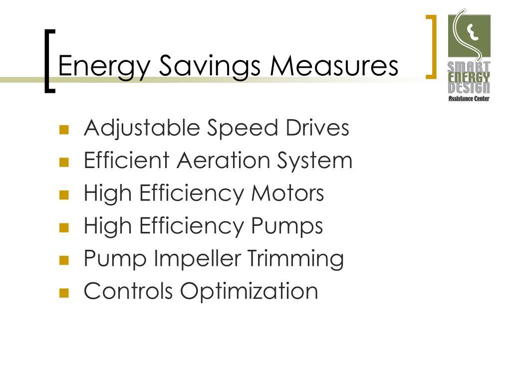 Energy Savings Measures