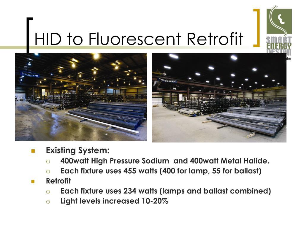 HID to Fluorescent Retrofit