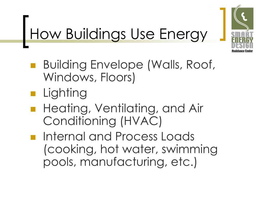 How Buildings Use Energy
