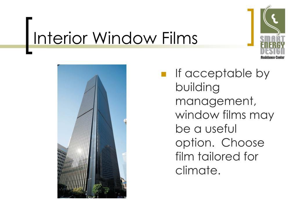 Interior Window Films