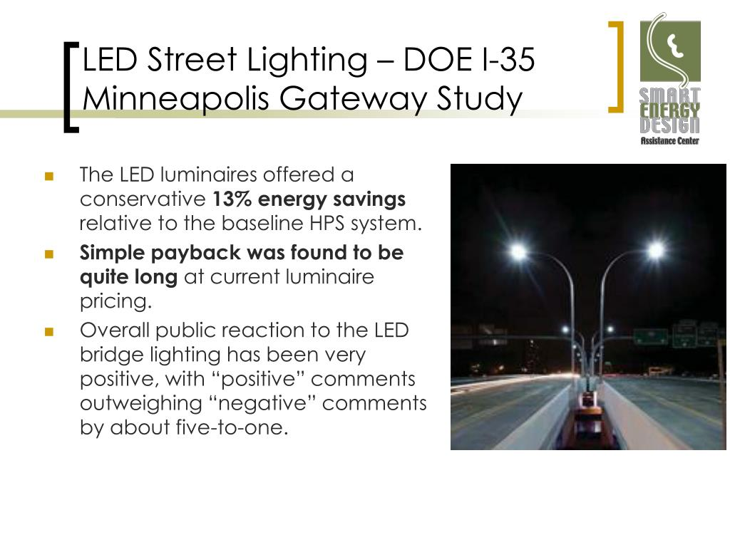 LED Street Lighting – DOE I-35 Minneapolis Gateway Study