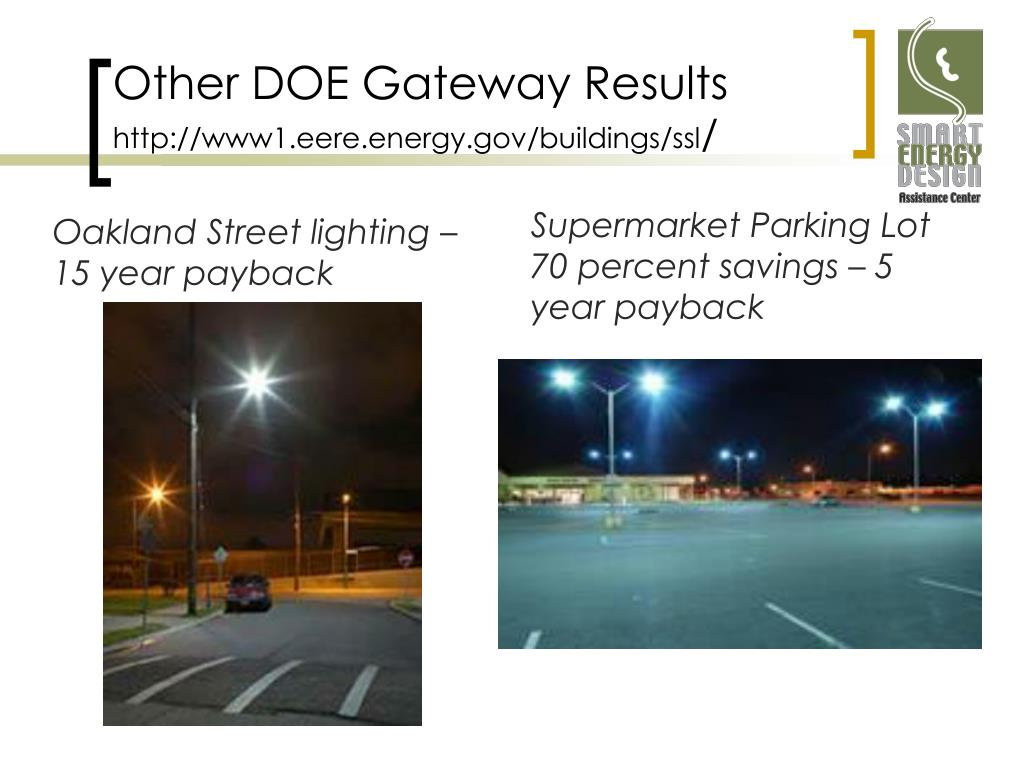 Other DOE Gateway Results