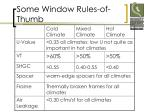 some window rules of thumb