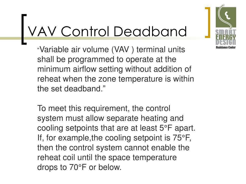 VAV Control Deadband