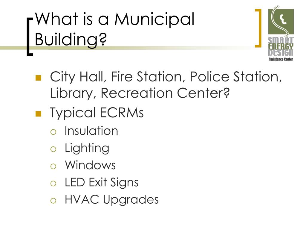 What is a Municipal Building?