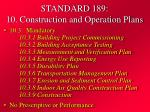standard 189 10 construction and operation plans
