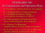 standard 189 10 construction and operation plans32