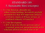 standard 189 5 sustainable sites excerpts