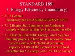 standard 189 7 energy efficiency mandatory